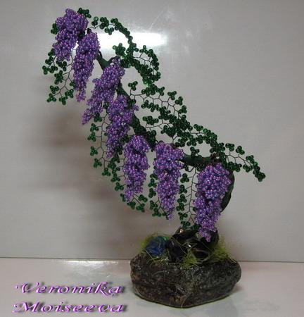 26 май 2013 Яркая золотистая глициния из бисера, учимся плести из проволоки и бисера красивейшие деревья своими...