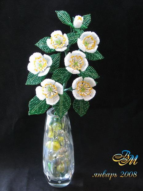 цветы из бисера схема - Практическая схемотехника.