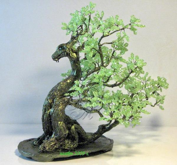 бисерные деревья идеи из интернета.