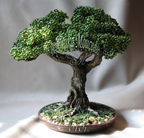 """На нашем женском сайте  """"Дамочка """" Вы в любой момент найдете публикацию - бисероплетение схемы деревья бонсаи..."""