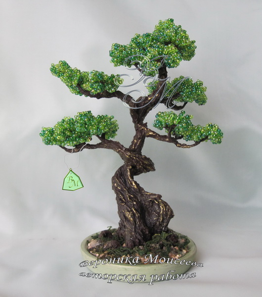 Деревья из бисера видео уроки мастер класс